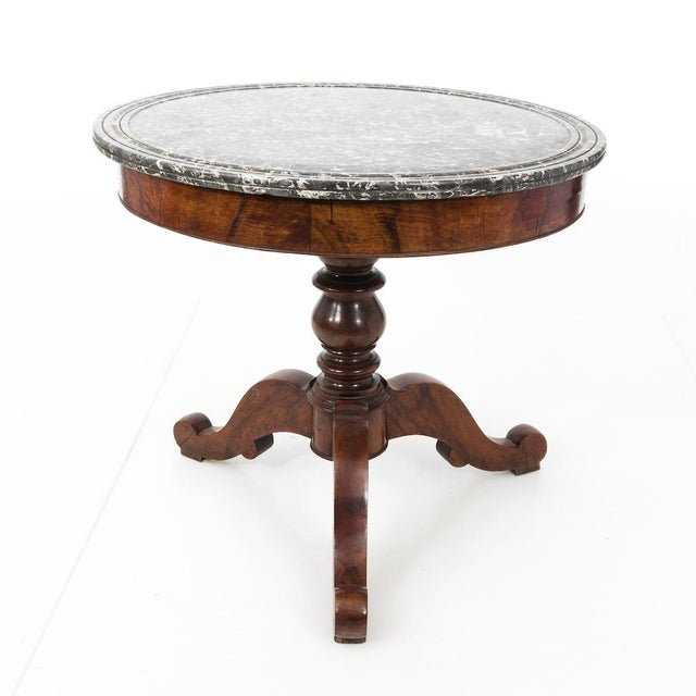 Antique French Second Empire Round Pedestal Table For Sale In New York - Image 6 of 10