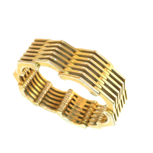 Roger Edet Paris Modernist Architectural Link Bracelet 1940s For Sale