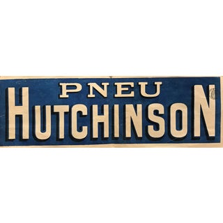 Original 1890's French Bicycle Poster, Pneu Hutchinson (Banner) For Sale