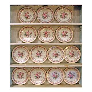"1950s Vintage Rosenthal ""Vienna"" Service Plates- Set of 14 For Sale"