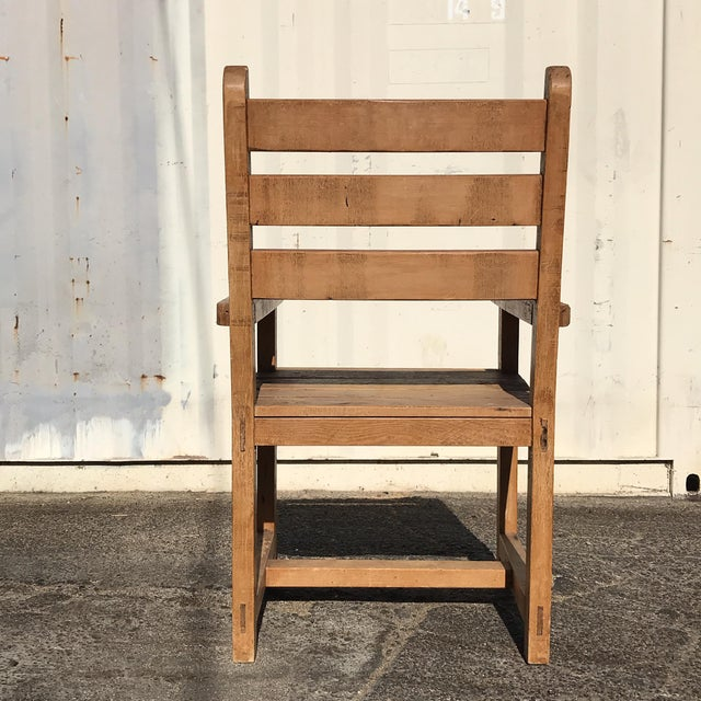 1990s Hand-Made Rustic Chair For Sale - Image 4 of 10