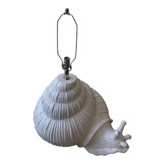 Italian Oversized Ceramic Snail Lamp For Sale