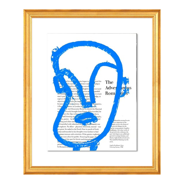 The Adventurous Romantic by Virginia Chamlee in Gold Frame, Small Art Print For Sale