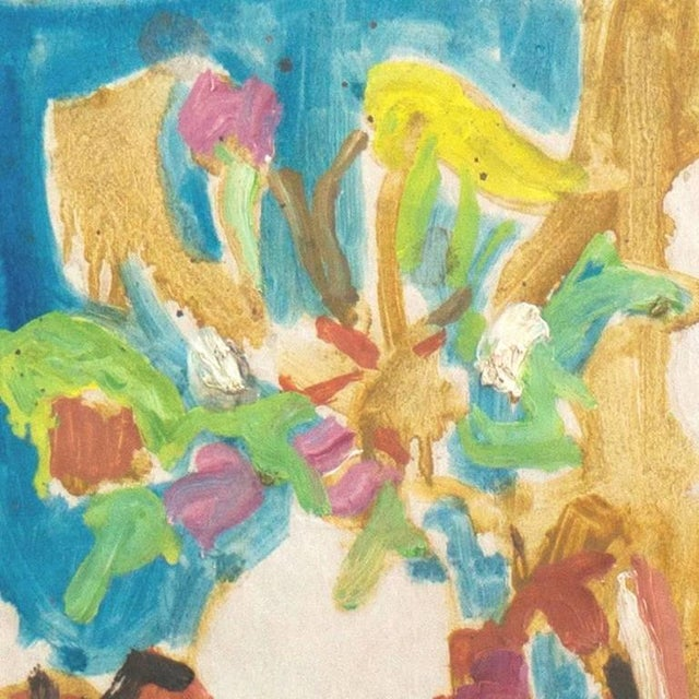 Mid-Century Modern 'Still Life of Spring Flowers' by Victor DI Gesu, Post-Impressionist California Artist, Louvre For Sale - Image 3 of 5