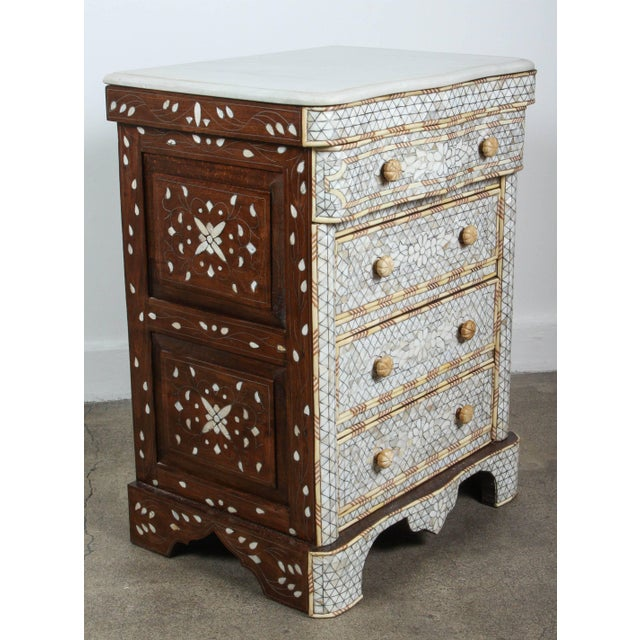 Pair of Mother-Of-Pearl Inlay Syrian Nightstands For Sale - Image 4 of 11
