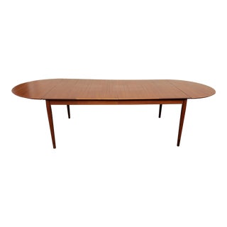 1950s Vintage Drop-Leaf Dining Table by Arne Vodder for Sibast For Sale