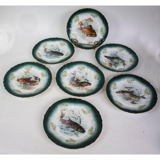 Royal Bavaria Fish Plates Made in Germany - Set of 7 Preview