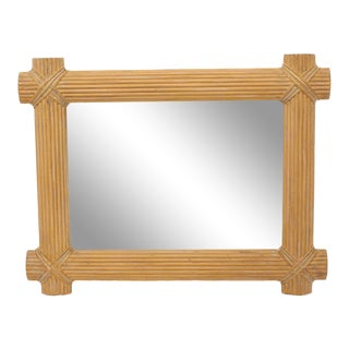 Large Sheaf of Wheat Motive Frame Mirror For Sale