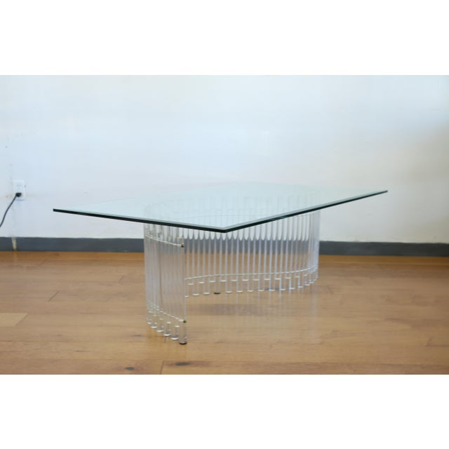 Contemporary Contemporary Vintage Lucite Coffee Table For Sale - Image 3 of 10