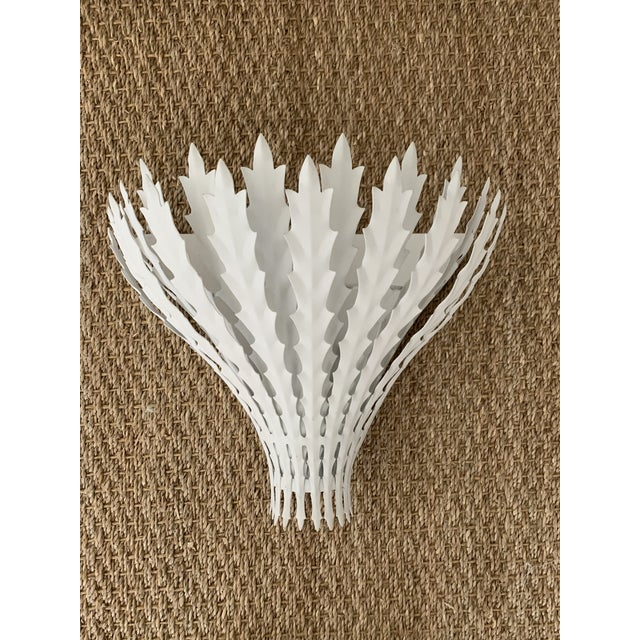 Contemporary Visual Comfort White Hampton Wall Sconce For Sale - Image 3 of 6