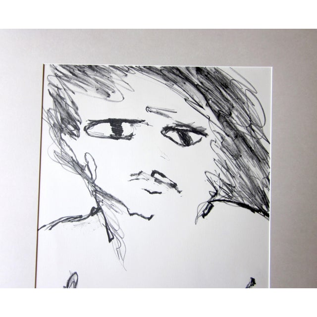 "Contemporary 1970s Vintage Suzanne Peters ""Face"" Nude Woman Limited Edition Signed Lithograph For Sale - Image 3 of 8"