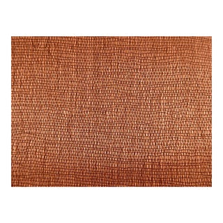 Rust Drapery Weight Cotton Textural Fabric : 3+ Yards