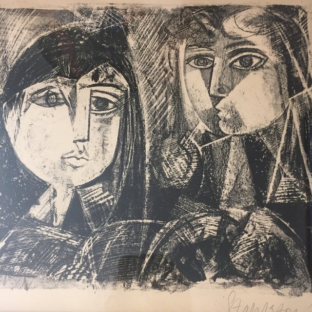Vintage Picasso Style Lithograph For Sale - Image 4 of 7