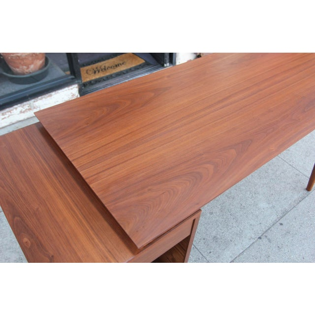 Not Yet Made - Made To Order Mid-Century Style Walnut Desk For Sale - Image 5 of 13