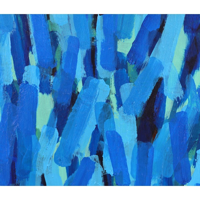 Acrylic 'Through the Blue' Original Abstract Painting by Lars Hegelund, 25 X 25 In. For Sale - Image 7 of 11