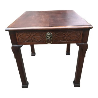 Traditional Baker Side Table For Sale