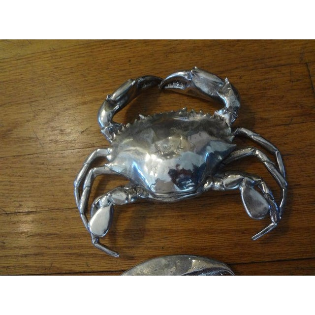 Italian Vintage Italian Silver Plated Lobster and Crab For Sale - Image 3 of 13