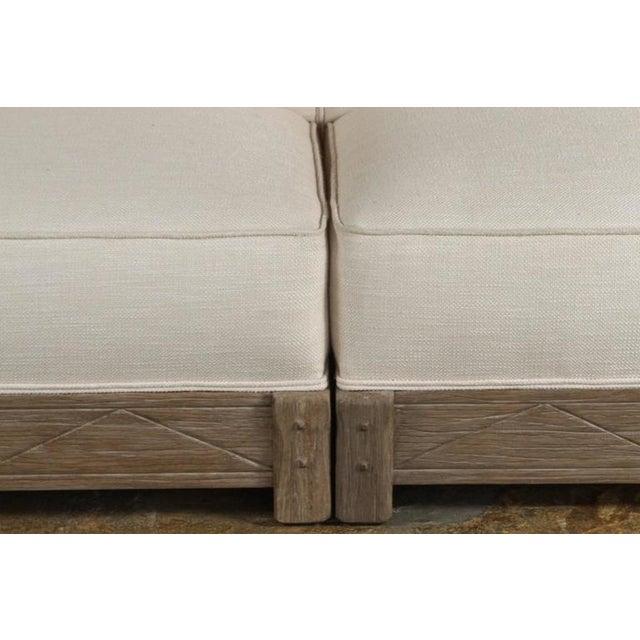 Mid-Century Distressed Oak Sofa - Image 5 of 6