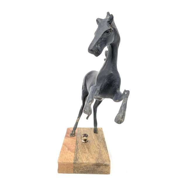 Mid 20th Century Vintage Mounted Horse Sculpture For Sale - Image 5 of 13