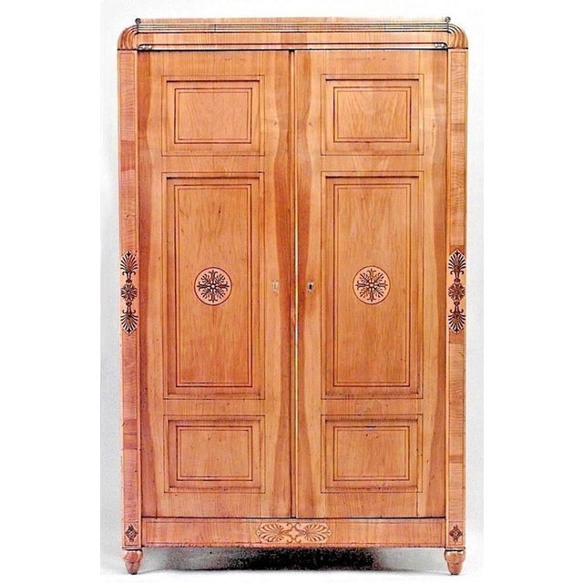 Austrian 'Viennese' Biedermeier Maple Armoire Cabinet For Sale In New York - Image 6 of 6