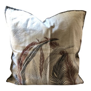 Ankasa Embroidered Linen Pillow Cover For Sale