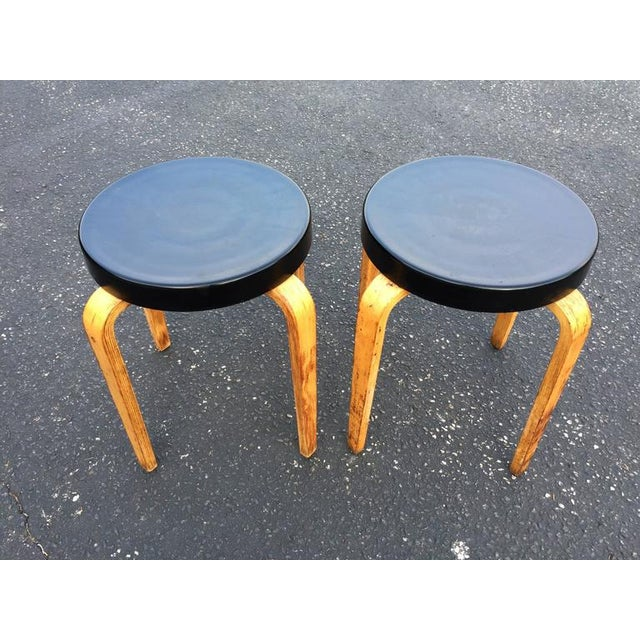 Mid-Century Modern SOLD-Authentic Thonet Stacking Stool Tables - a Pair For Sale - Image 3 of 11