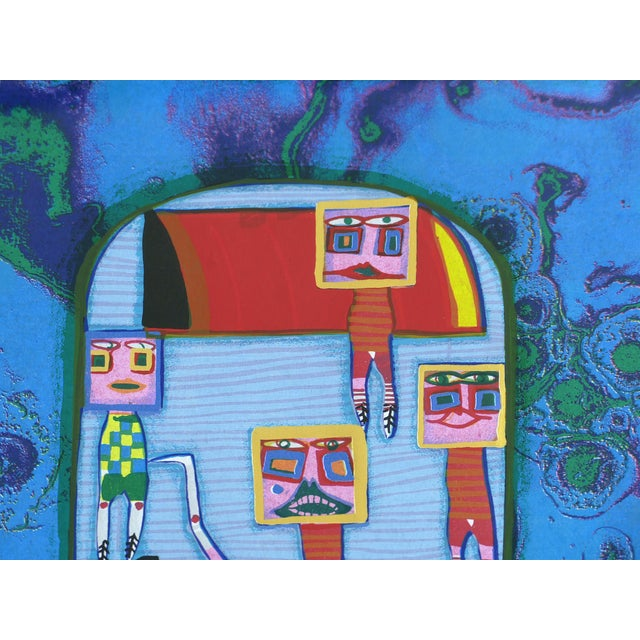 "Arts & Crafts 1972 Hundertwasser Olympische ""Spiele Munchen"" Serigraph Numbered #2409/3999 For Sale - Image 3 of 11"