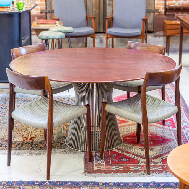 Exceedingly rare vintage rosewood dining table designed by Warren Platner! This table is perfectly embodies the iconic...