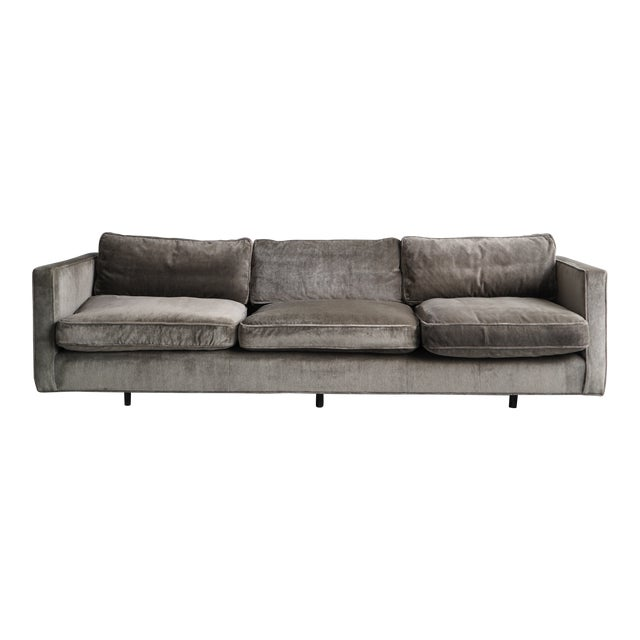 Harvey Probber Green Down Sofa For Sale