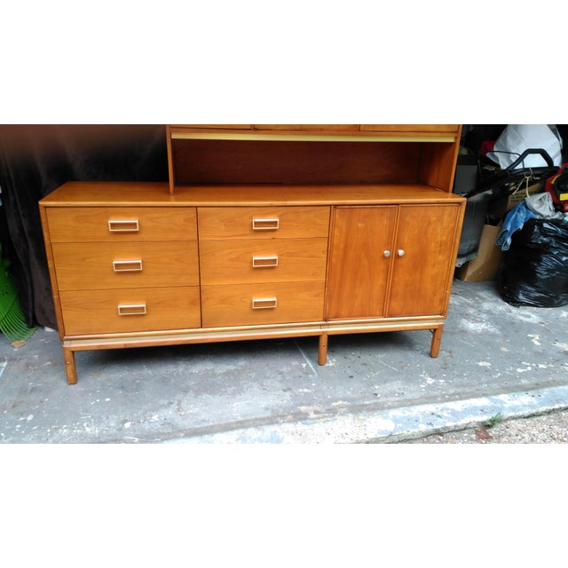 Kipp Stewart for Drexel Sun Coast Credenza With Hutch For Sale - Image 9 of 11