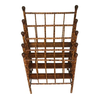 Mid-Century Bamboo Magazine Rack For Sale