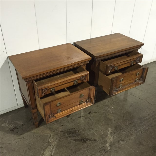 Vintage English Inspired Nightstand - Pair - Image 4 of 6
