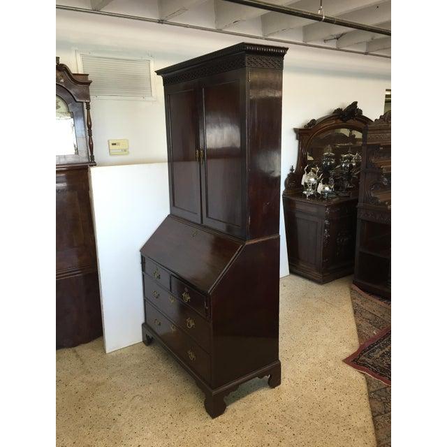 English Traditional Early 19th C. English Mahogany Bureau Bookcase For Sale - Image 3 of 9