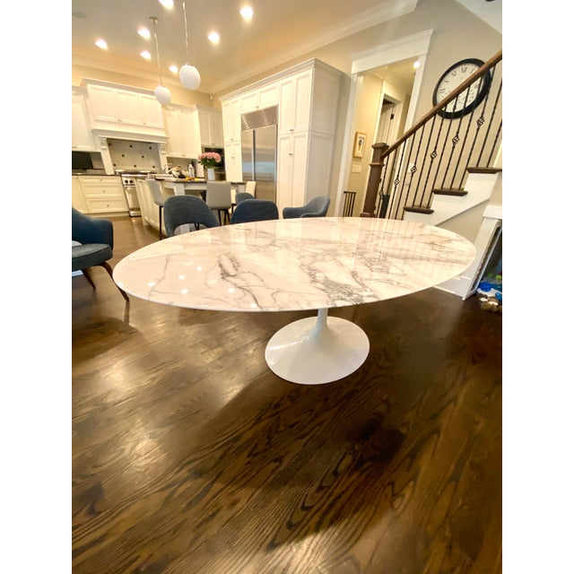 Knoll Saarinen Oval Tulip Dining Table For Sale In Chicago - Image 6 of 6