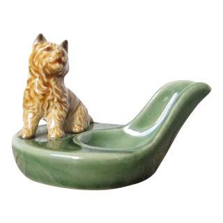 1950s Vintage Wade Pipe Holder Dog Figurine For Sale