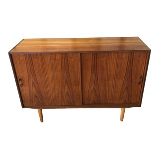 1960s Mid-Century Sliding Door Sideboard For Sale