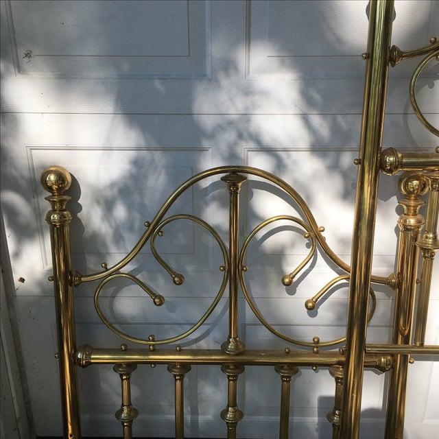 Vintage Brass Twin Bed For Sale - Image 4 of 11