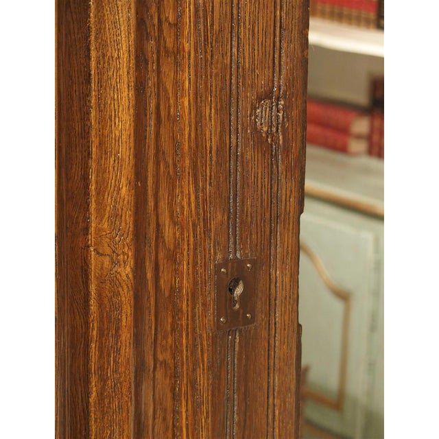 Early 1900s French Louis XIV Style Oak Entry Door For Sale - Image 10 of 11