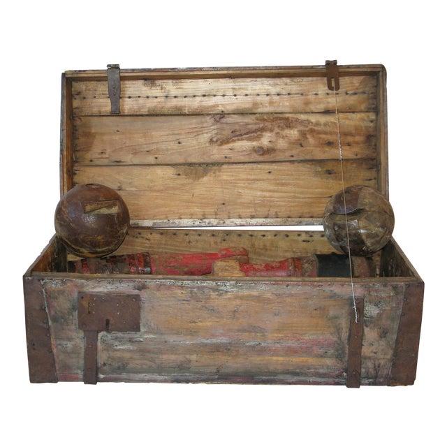 Antique Primitive Bowling Set For Sale