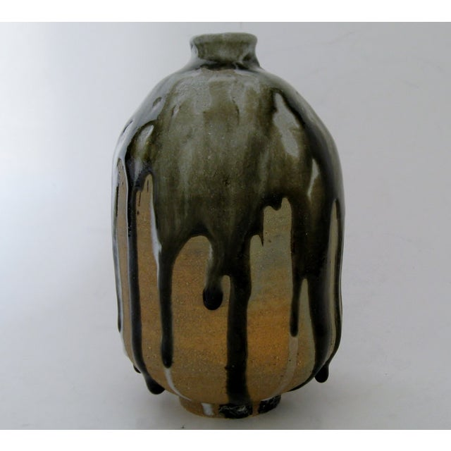 Heavy Drip Gloss Artisan Ceramic Vase - Image 4 of 7