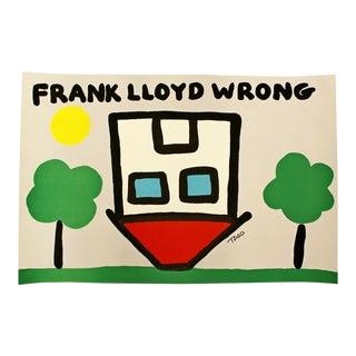 Contemporary Unframed Frank Lloyd Wrong Signed Todd Goldman Silkscreen 69/350 For Sale