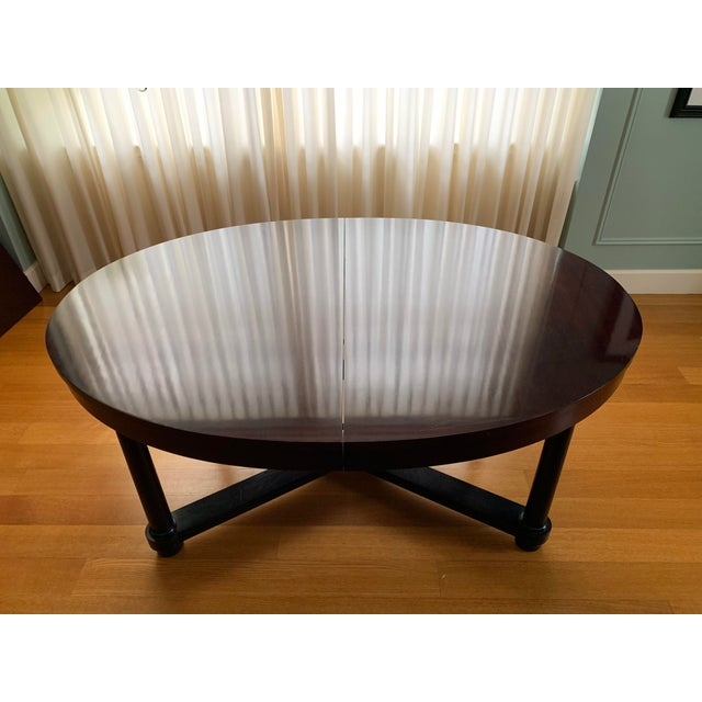 Barbara Barry for Baker Mahogany Ambassador Oval Dining Table For Sale - Image 12 of 13