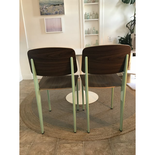 Jean Prouvé Modern Industry West Prouvé Style Dining Chairs - a Pair For Sale - Image 4 of 7