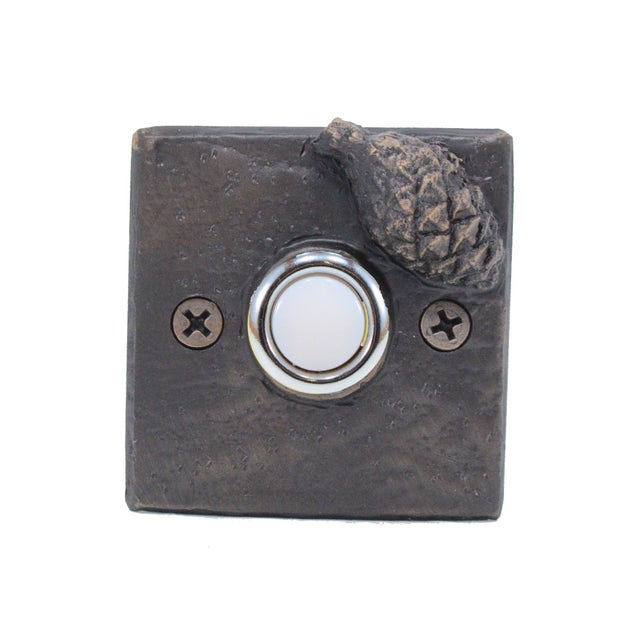 Cabin Square Lodgepole Cone Doorbell For Sale - Image 3 of 4