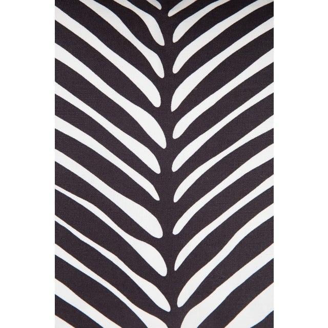 Tribal Schumacher Zebra Palm Pillows, a Pair For Sale - Image 3 of 5