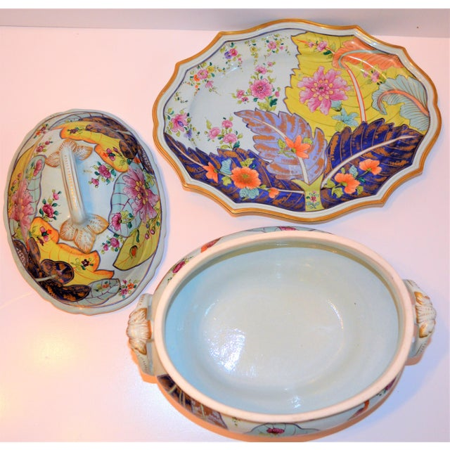 Mid-Century Mottahedeh Tobacco Leaf Tureen For Sale In Houston - Image 6 of 13