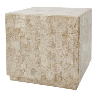 "1990s Contemporary Tessellated Stone ""Searfoss"" Side Table"