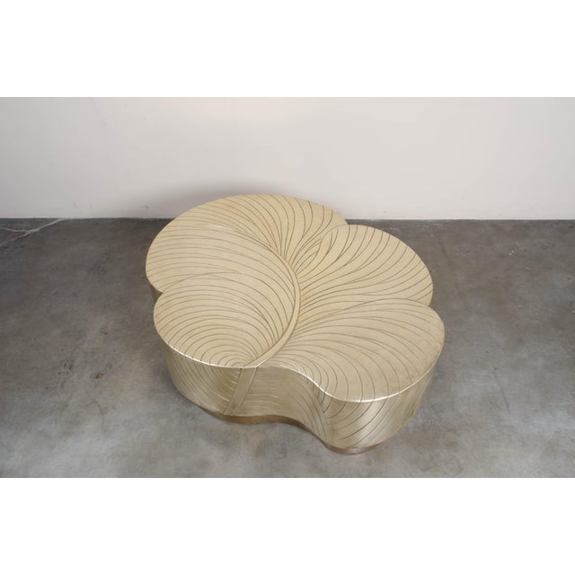 Leaf Design Cocktail Table - Brass For Sale In Los Angeles - Image 6 of 7