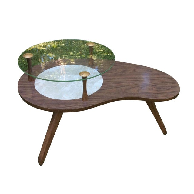 Mid-Century Formica & Glass End Table - Image 1 of 7