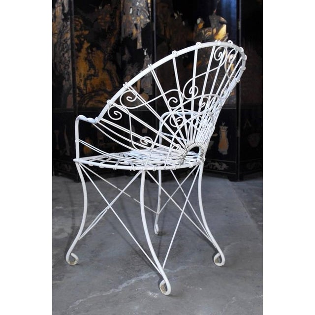 French Wrought Iron and Wire Garden Patio Set For Sale - Image 10 of 10
